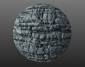 3D model Blocky Cliff Rock 003 PBR Material Texture