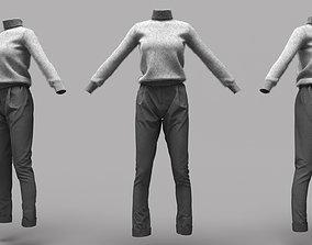 3D asset Female Clothing 18