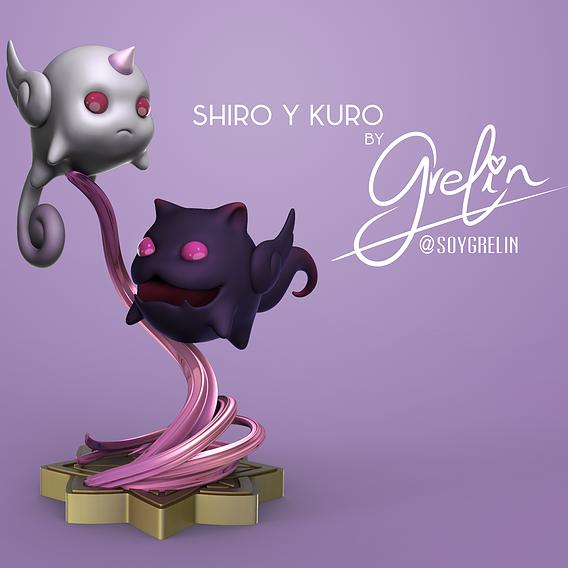 Shiro and Kuro from League of Legends (Star Guardian Universe)