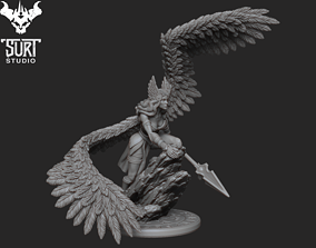 3D printable model statue Valkyrie
