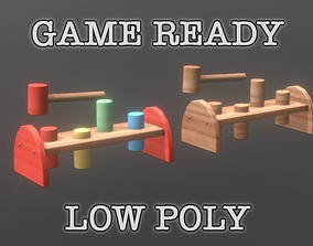 3D asset Hammering Toy low poly game ready