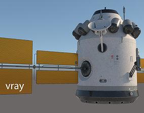 3D model artificial earth satellite v2