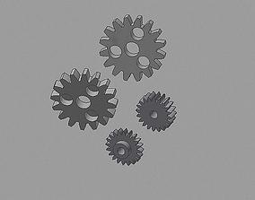 odometer gear Audi 200 set 3D print model 3d