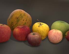 Photoscanned MiddlePoly Fruits Collection 3D asset