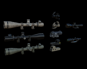 Sight and Scope Package 3D asset