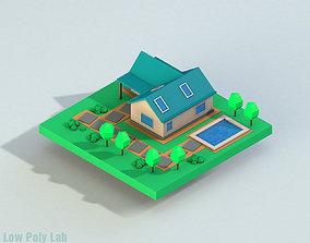3D model Low Poly City House 1