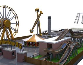 log 3D model Low Poly Theme Park
