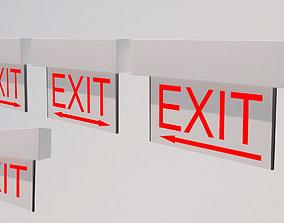 Exit Signs-001 3D