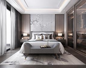 3D modern bedroom tv