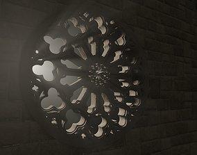 medieval church rose window 3D model