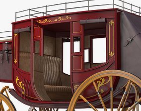 Concord Stagecoach wild west 3D