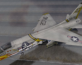 3D Vought F-8E Crusader