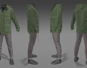 Parka Jacket - Marvelous Designer Clothing 3D