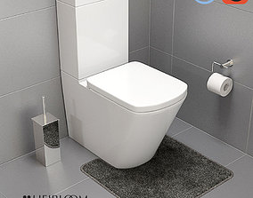 3D model Veloso Wall Faced Toilet