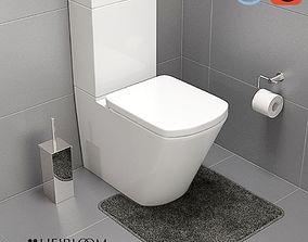 3D model Veloso Wall Faced Toilet