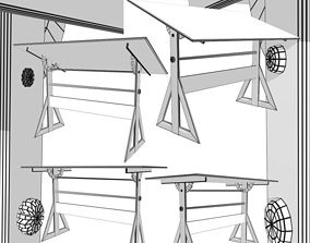 Drafting Table FBX and OBJ 3D
