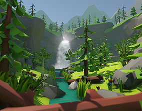 Lowpoly Forest Environment Pack 3D asset