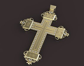 3D print model cross Cross with diamonds