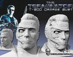 3D print model T-800 Damage Bust 28MB