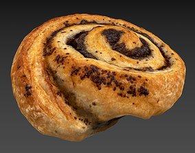 3D model Sweetroll HP LP baking