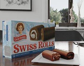 realtime Little Debbie Swiss Rolls Photorealistic Low 4