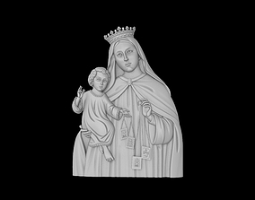 Mother Mary with Child Jesus 3D print model