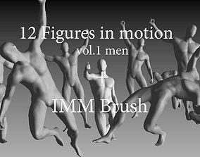 3D model 12 Figures of Men in Motion vol1