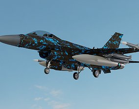 game-ready F 16 3D model