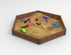 Sandbox toys 3D asset