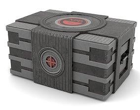 Black Sci-Fi Case 3D model