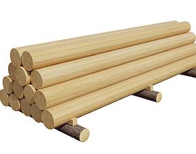 cutting 3D Wood Log