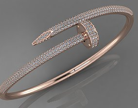 3D nail bracelet