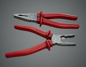 Combination Pliers 3D asset low-poly