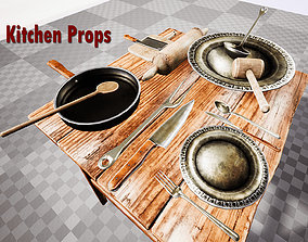 3D model Kitchen Props for Unreal