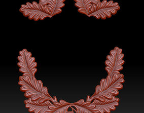 3D print model decoration frame oak and acorn leaves