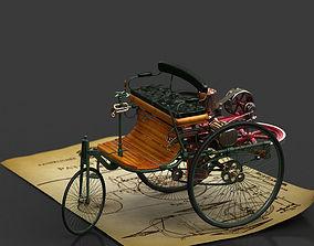 Benz Motorwagen 1888 3D motor