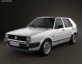 Volkswagen Golf Mk2 5-door 1983 3D