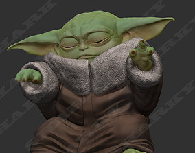 3D print model baby yoda force 1 pose