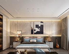 3D Modern Style Bedroom Interior Scene-001