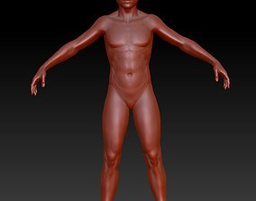 the human model Man 3D low-poly