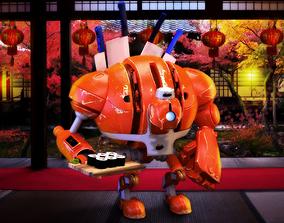 robot Robot 3D asset game-ready
