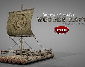 3D model Wooden Raft