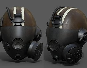 Helmet gas mask scifi military futuristic 3D model 1