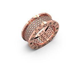 BVLGARI RING 3D print model steel