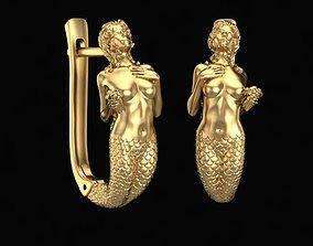 Earrings Little Mermaid 3D print model