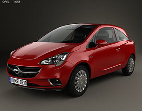 Opel Corsa E 3-door with HQ interior 2014 3D