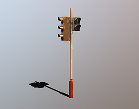 Traffic Light Stylized 3D model