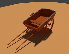 3D model Low Poly Farm Cart