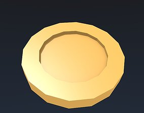Low poly gold coin 3D asset low-poly