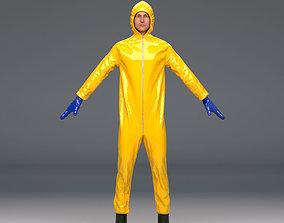 Biohazard protective hazmat suit 3D PBR